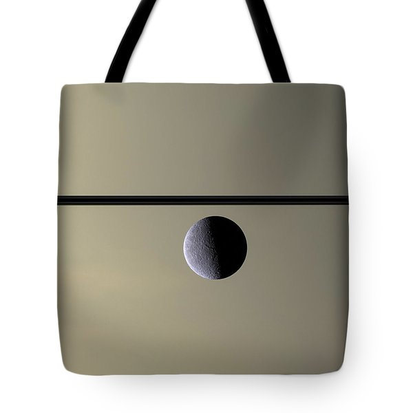 Saturn Rhea Contemporary Abstract Tote Bag by Adam Romanowicz