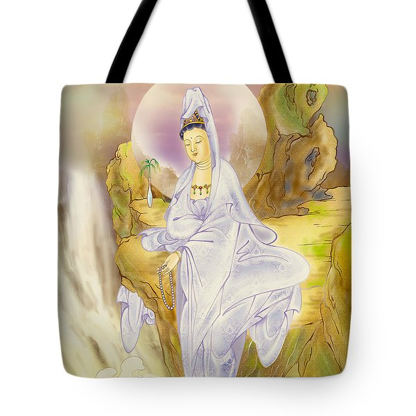 Sault-witnessing Kuan Yin Tote Bag by Lanjee Chee