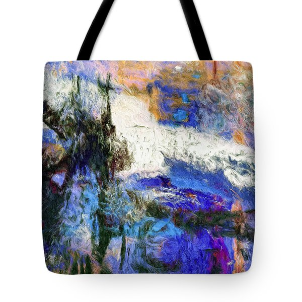 Tote Bag featuring the painting Sausalito by Dominic Piperata