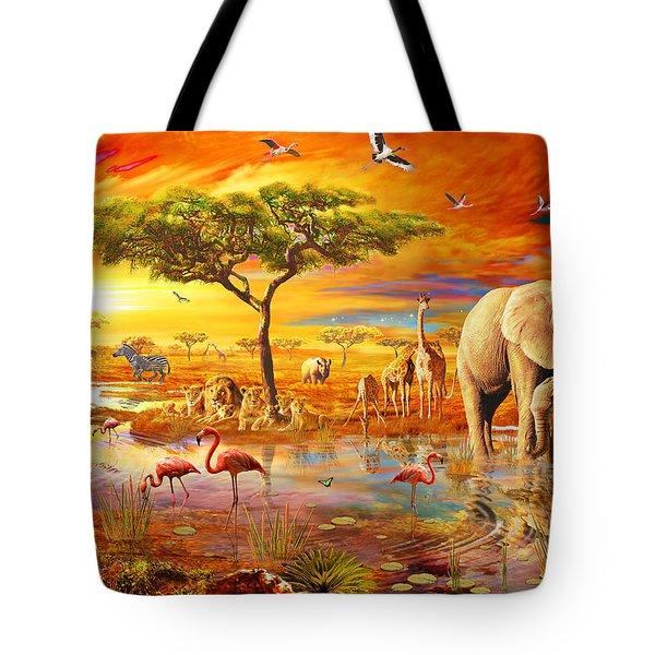 Savanna Pool Tote Bag by Adrian Chesterman
