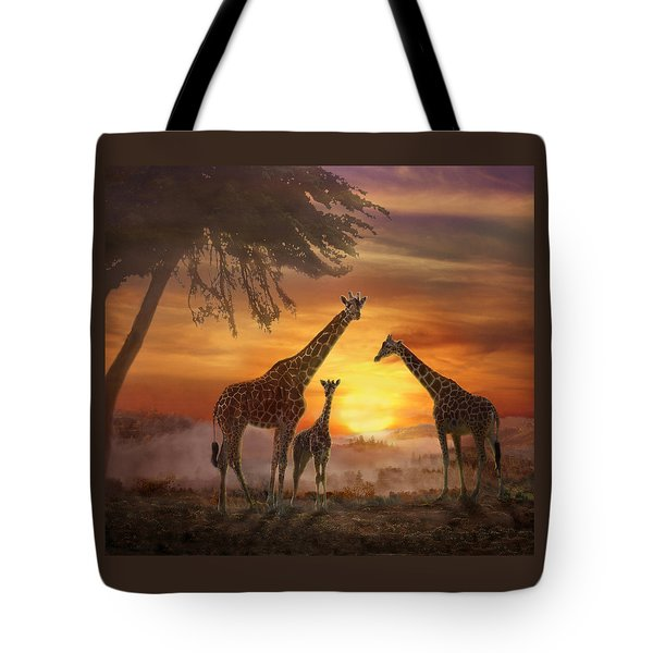 Savanna Sunset Tote Bag