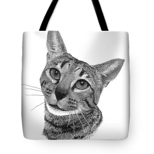 Savannah Cat Tote Bag