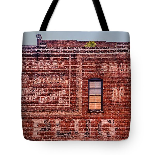 Savannah Ghost Writing Tote Bag by Priscilla Burgers