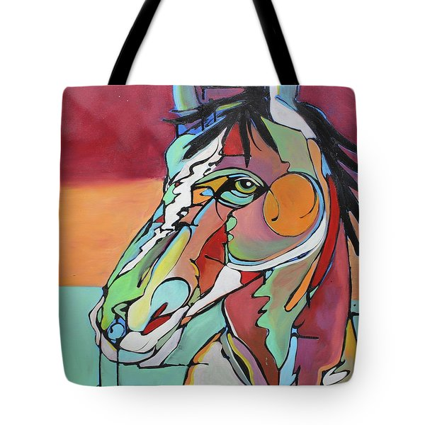 Tote Bag featuring the painting Savannah  by Nicole Gaitan