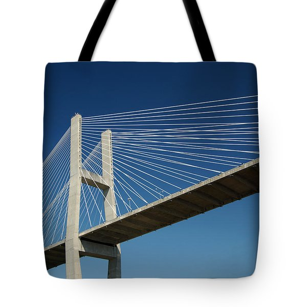 Savannah River Bridge Georgia Usa Tote Bag