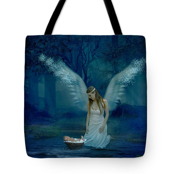 Saved By An Angel Tote Bag