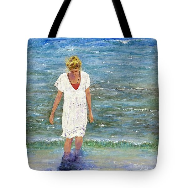 Savoring The Sea Tote Bag by Margaret Bobb