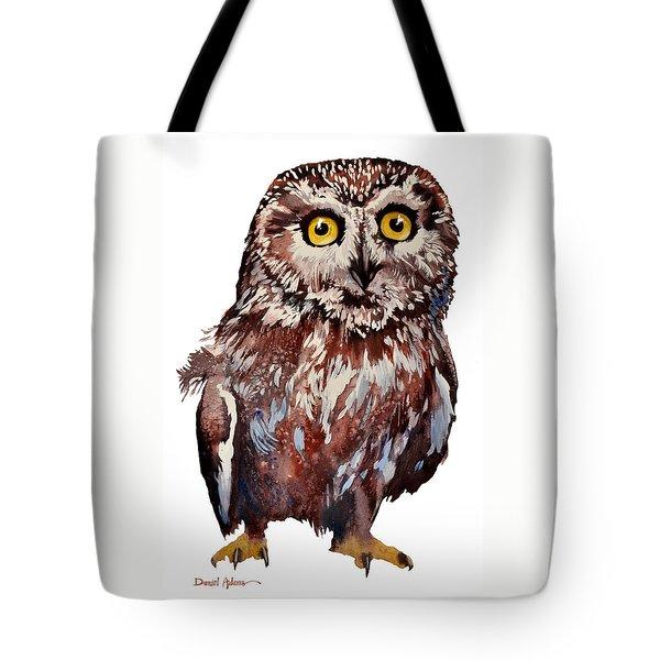 Da148 Saw Whet Owl Daniel Adams Tote Bag