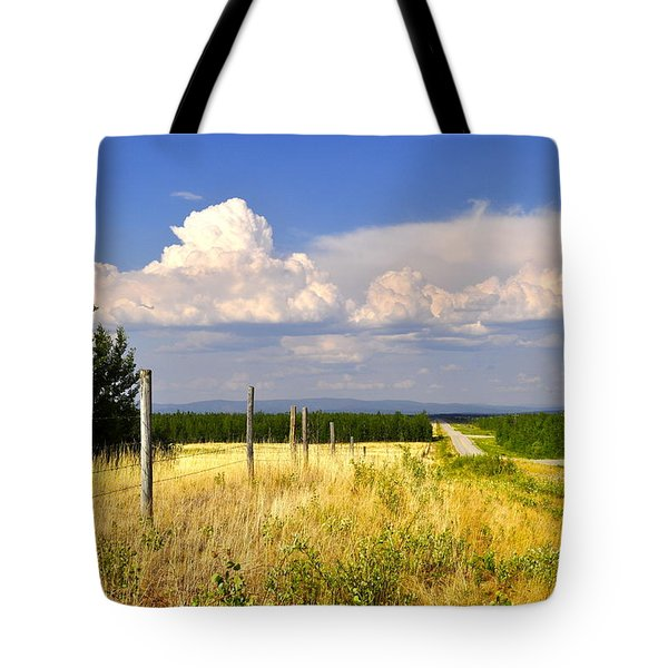 Tote Bag featuring the photograph Sawmill Creek Road by Cathy Mahnke
