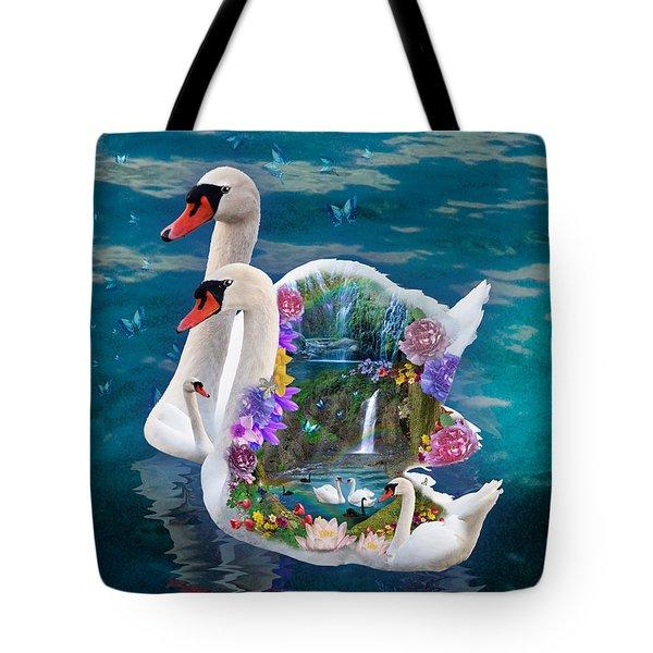 Sawn Paradise Tote Bag
