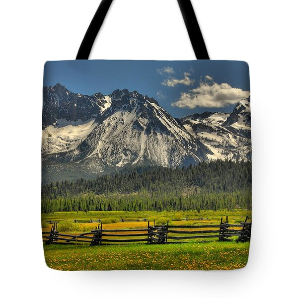 Sawtooth Mountains Tote Bag