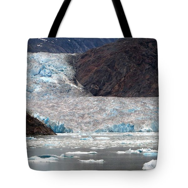 Tote Bag featuring the photograph Sawyer Glacier by Jennifer Wheatley Wolf