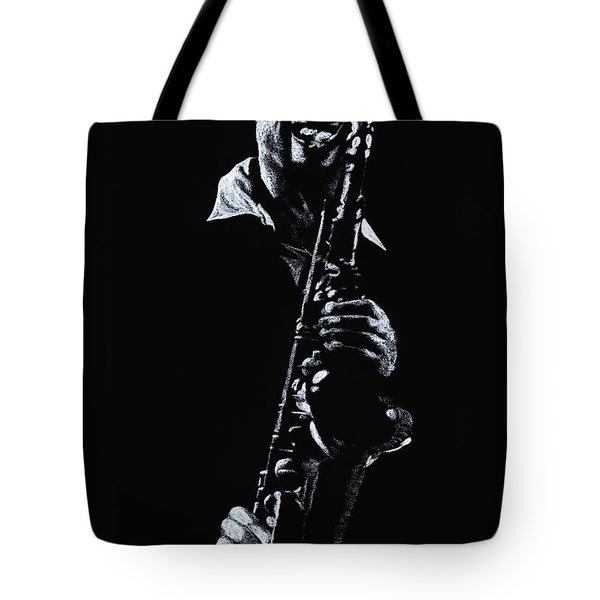 Sax Player Tote Bag by Richard Young