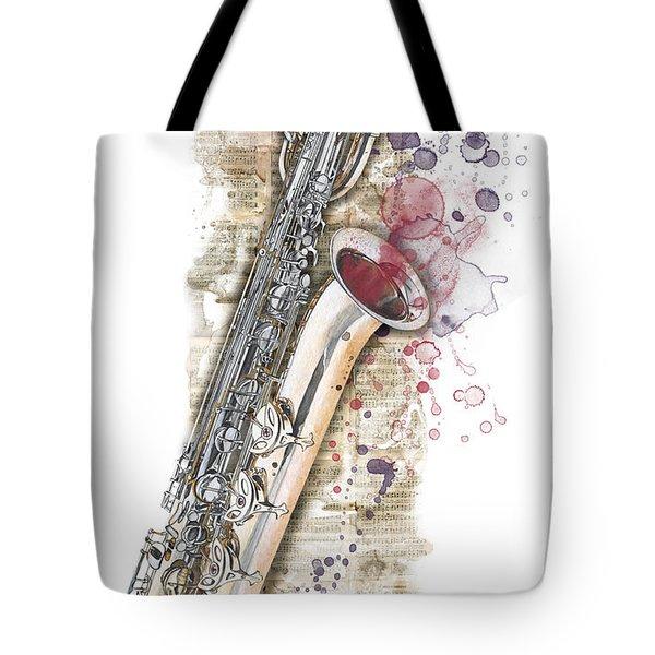 Saxophone 01 - Elena Yakubovich Tote Bag