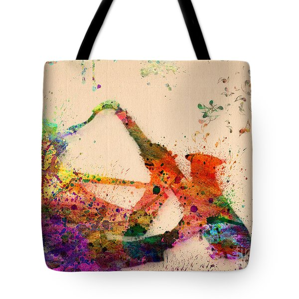Saxophone  Tote Bag by Mark Ashkenazi