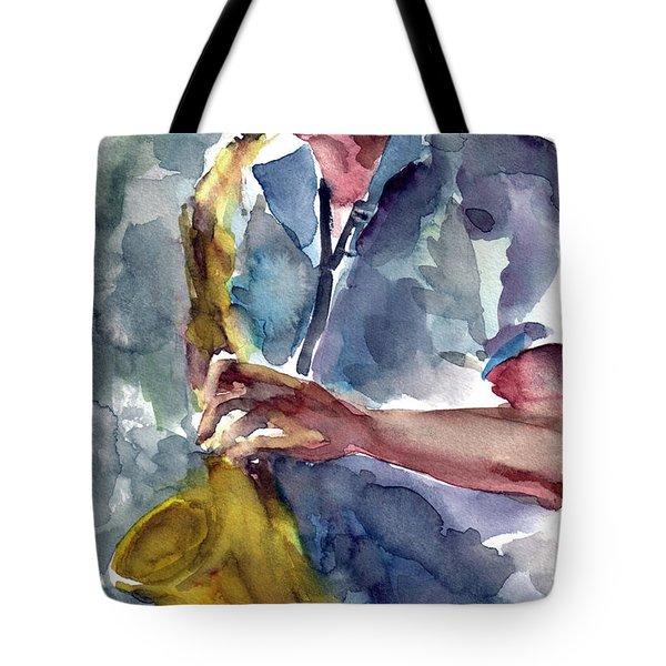 Saxophonist Tote Bag by Faruk Koksal