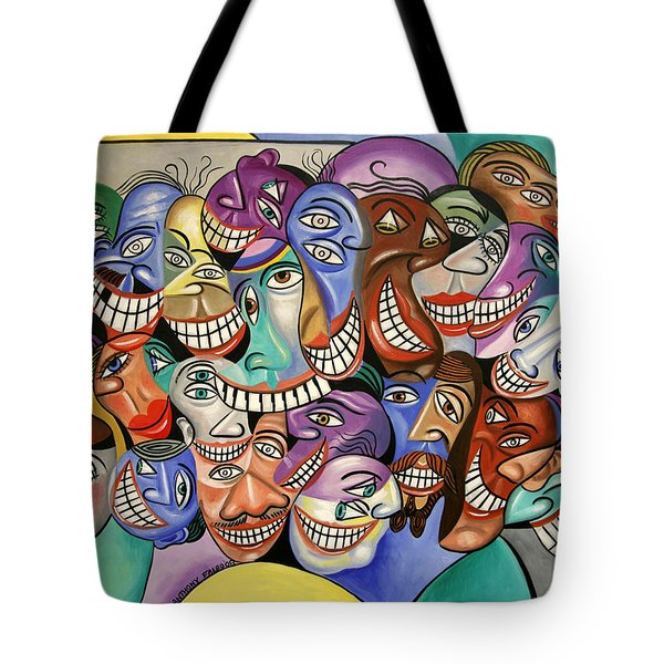 Tote Bag featuring the painting Say Cheese by Anthony Falbo