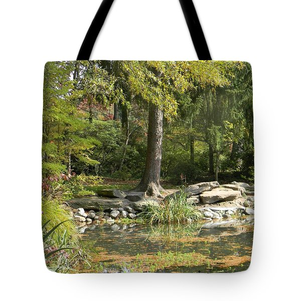 Sayen Gardens Pond Tote Bag