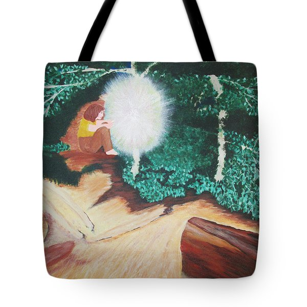 Tote Bag featuring the painting Saying Hello by Cheryl Bailey