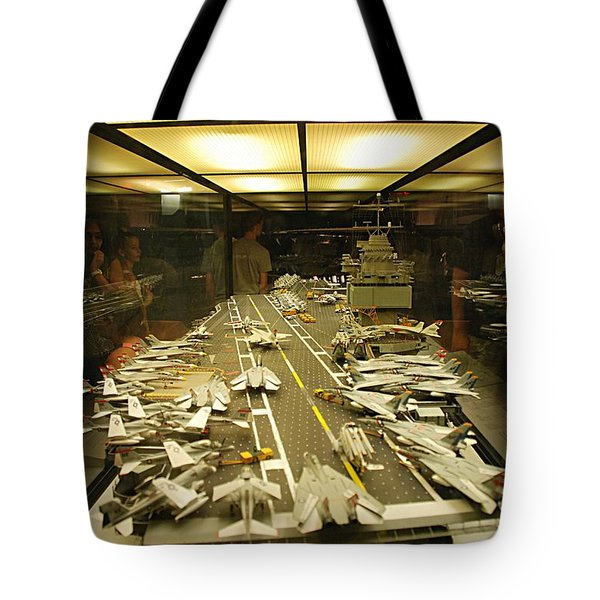 Scale Model Aircraft Carrier Tote Bag