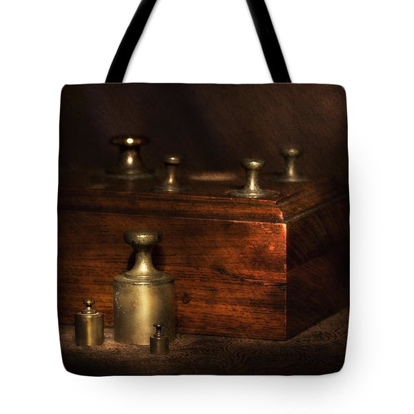 Scale Weights Still Life I Tote Bag by Tom Mc Nemar