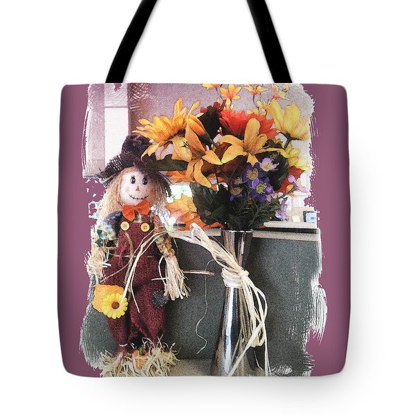 Scarecrow And Company Tote Bag by Patricia Keller