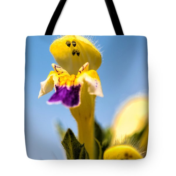 Scared Flower Tote Bag by Leif Sohlman