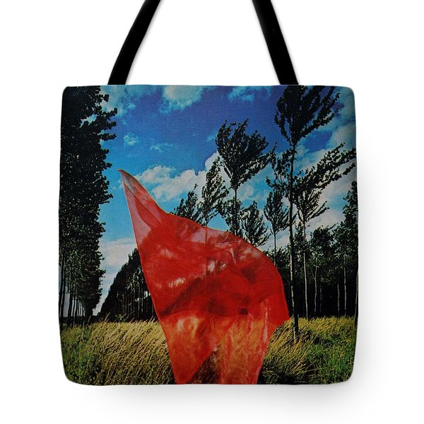 Scarf In The Winds Tote Bag
