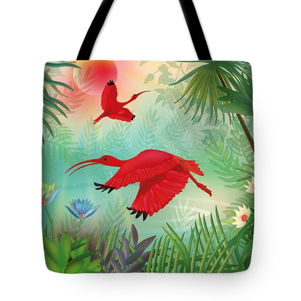 Scarlet Corocoro - Limited Edition 1 Of 20 Tote Bag by Gabriela Delgado