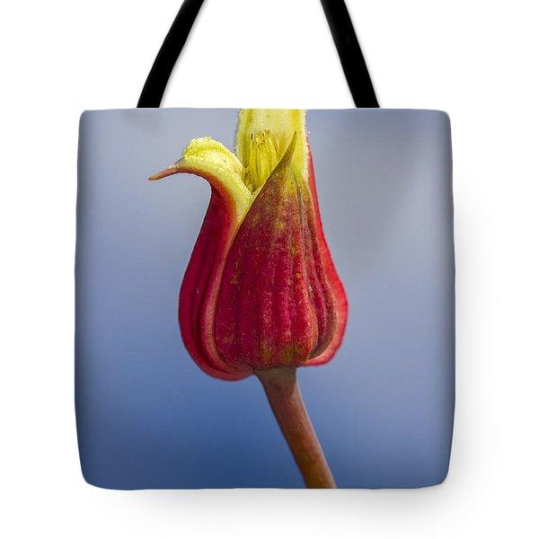 Scarlet Leatherflower Tote Bag