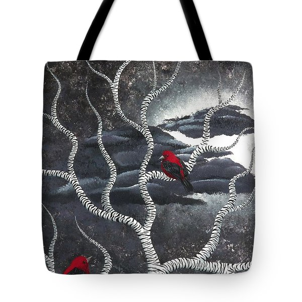 Scarlet Night Tote Bag by Oddball Art Co by Lizzy Love