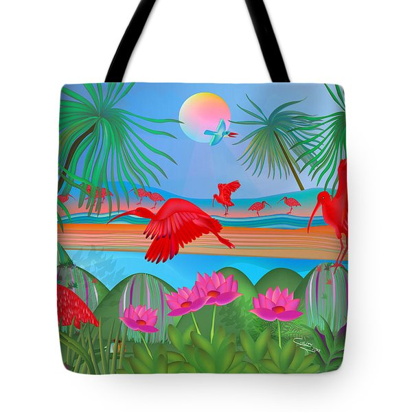 Scarlet Party - Limited Edition 1 Of 20 Tote Bag by Gabriela Delgado