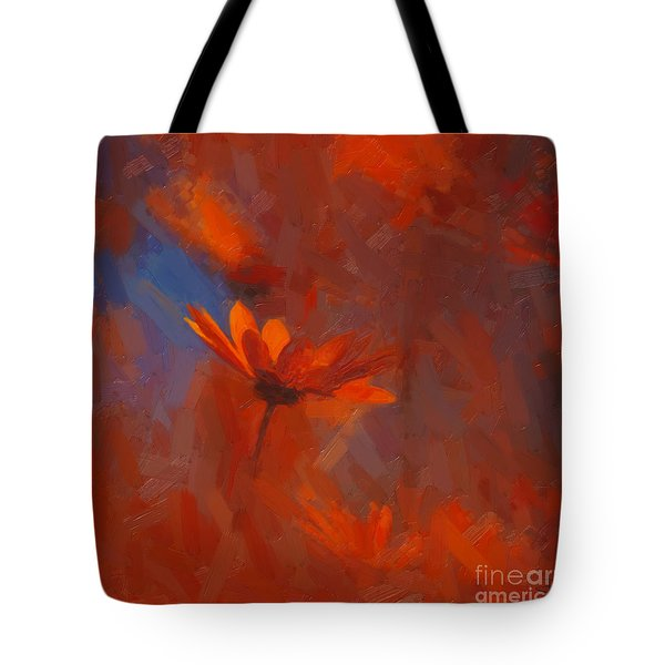 Scarlet Petals  Tote Bag by Paul Davenport