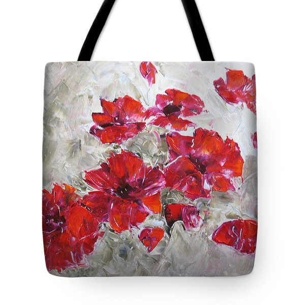 Scarlet Poppies Tote Bag