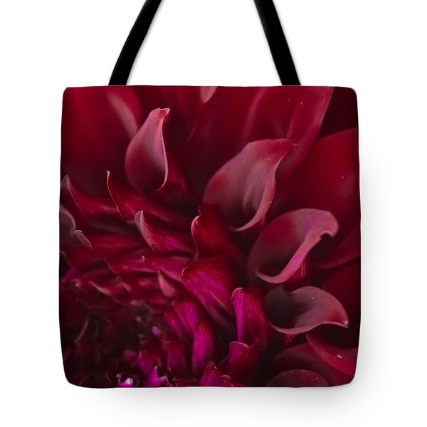 Tote Bag featuring the photograph Scarlet Spiral by Joel Loftus