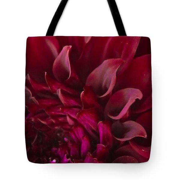Scarlet Spiral Tote Bag