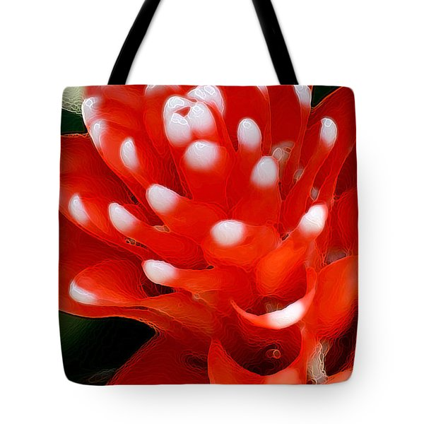 Tote Bag featuring the digital art Scarlet Star by E B Schmidt