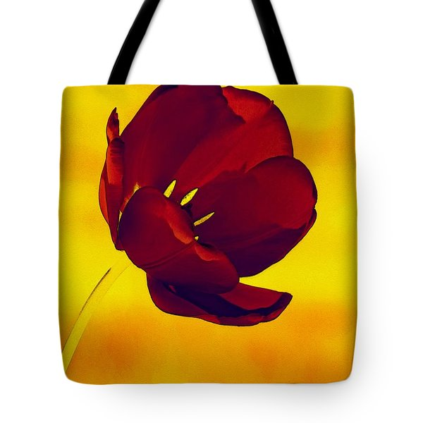Scarlet Tulip At Sunset Tote Bag
