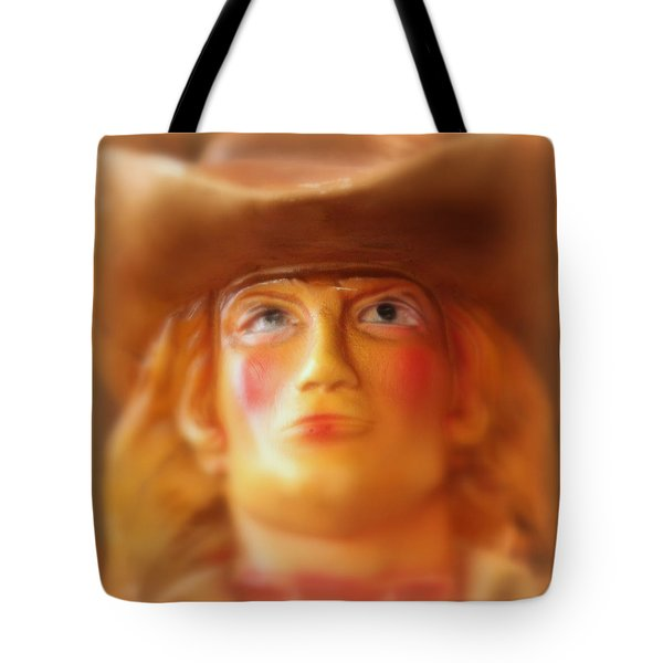 Tote Bag featuring the photograph Scary Cowgirl by Lynn Sprowl