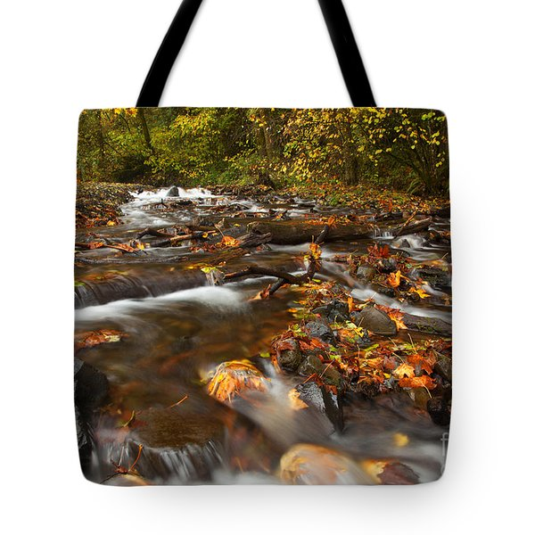 Scattered Leaves Tote Bag by Mike  Dawson
