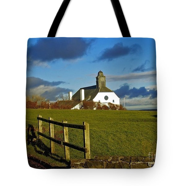 Scene From Giants Causeway Tote Bag
