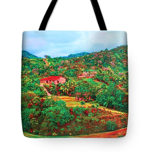 Scene From Mahogony Bay Honduras Tote Bag