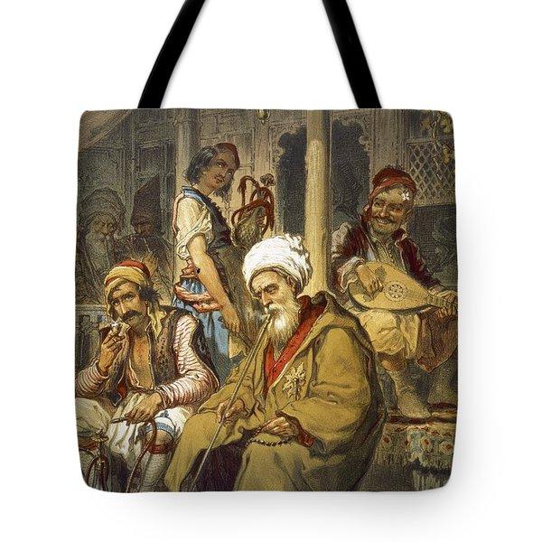 Scene In A Cafe, 1865 Tote Bag by Amadeo Preziosi
