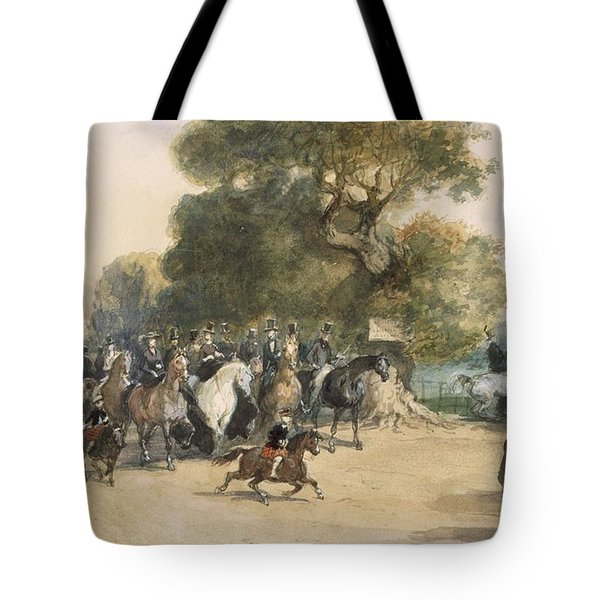 Scene In Hyde Park Tote Bag