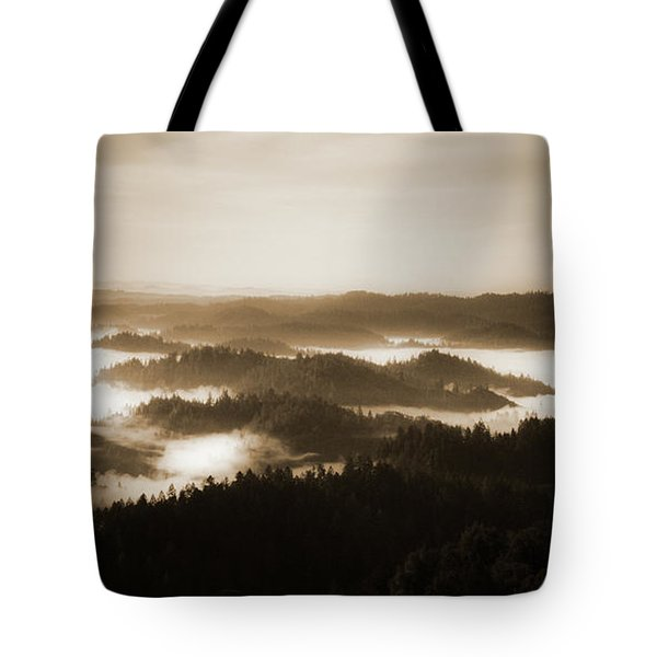 Scenery With Silhouettes Tote Bag