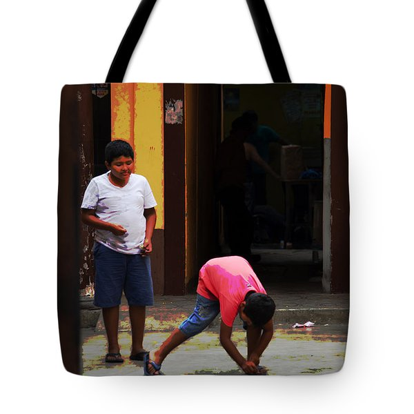Scenes From A Taxi Ride - #2 Tote Bag by Mary Machare