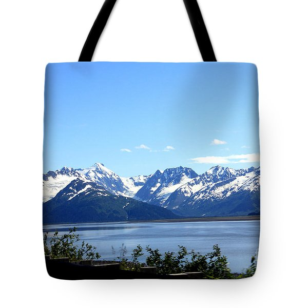 Tote Bag featuring the photograph Scenic Byway In Alaska by Kathy  White
