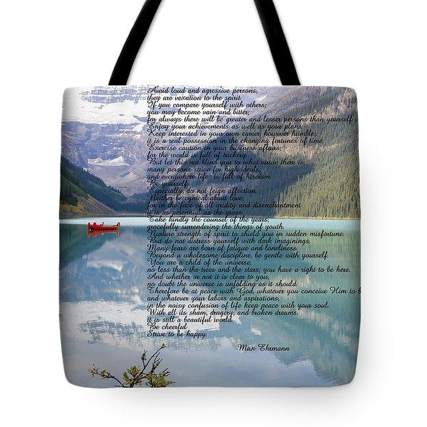 Scenic Desiderata Tote Bag