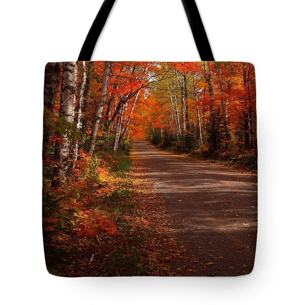 Scenic Maple Drive Tote Bag