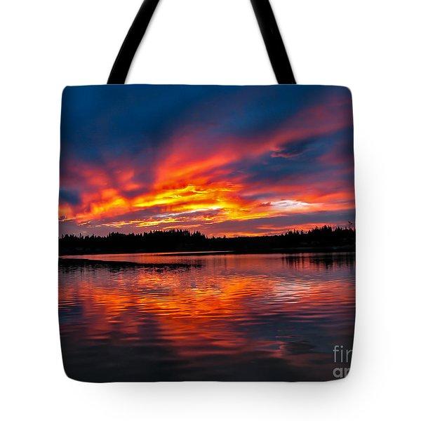 Scenic Marine Sunrise Tote Bag by Robert Bales